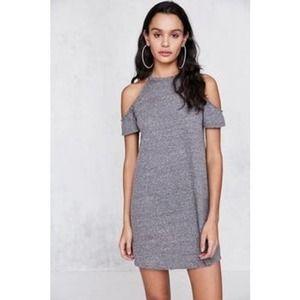 BDG Heather Gray Halter Cold Shoulder Dress